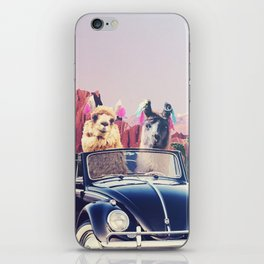Llamas on the road iPhone Skin