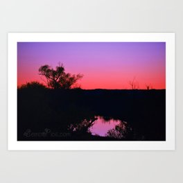 Inspiration Point Pink Sunset Art Print