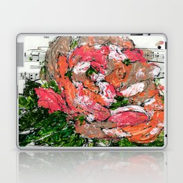 Phantom - Floral - Piano notes Laptop & iPad Skin