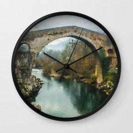 Asturias Roman Bridge Wall Clock