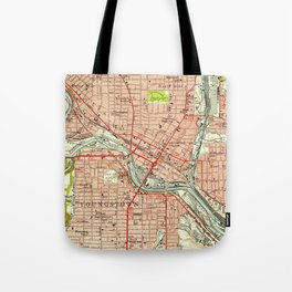Vintage Map of Youngstown Ohio (1951) Tote Bag