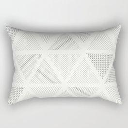 Triangle Hatching Pattern Rectangular Pillow