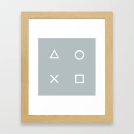 Gamer in the Fog Framed Art Print