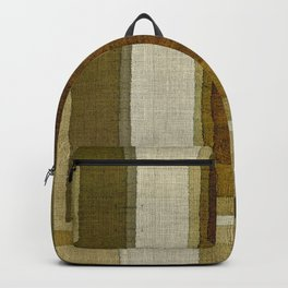 """Burlap Texture Greenery Columns"" Backpack"