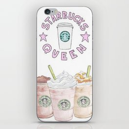 queen of coffee iPhone Skin