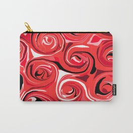 Red Apple Abstract Swirls Pattern Carry-All Pouch