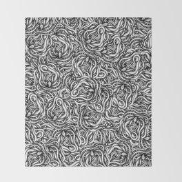 Infinite Snake Pattern Throw Blanket