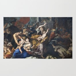 Milan - paint of Massacre of the Innocents from San Eustorgio church Rug