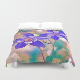 Colorado Columbine Flower Duvet Cover