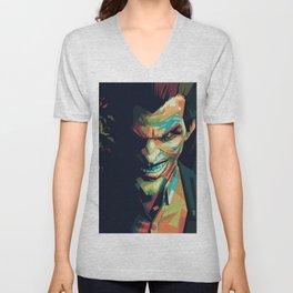 Joker Pop Art Portrait Unisex V-Neck