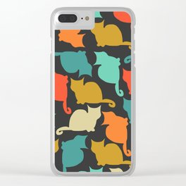 Cats and kittens Clear iPhone Case