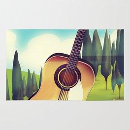 Take it Easy guitar poster. Rug