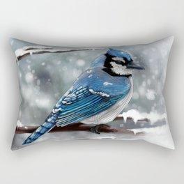 Blue Jay Rectangular Pillow