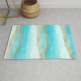 Gold and blue sea Rug