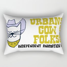 Urbancowfolks Studio Kitty Mustard Logo Rectangular Pillow
