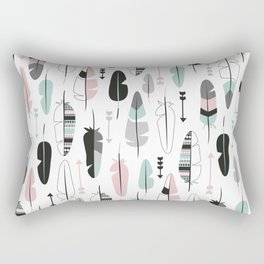 Arrows and feathers summer pattern Rectangular Pillow