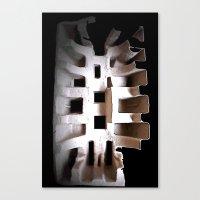skeleton Canvas Prints featuring Skeleton by Artisimo (Keith Bond)