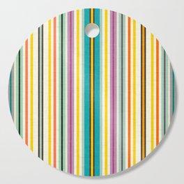 retro stripe Cutting Board
