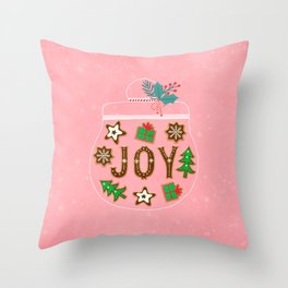 Christmas cookies jar Throw Pillow