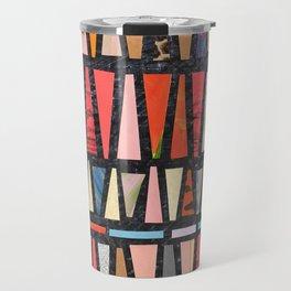 Pink Pyramid Pattern Travel Mug