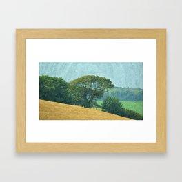 Bigbury countryside, England Framed Art Print
