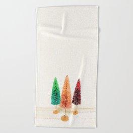 Vintage Bottlebrush Pastel Trees Beach Towel