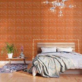 Adventure Map - Retro Orange Wallpaper