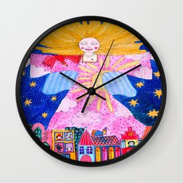 THE GUARDIAN ANGEL Wall Clock