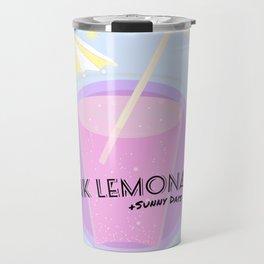 Pink Lemonade +Sunny Days Travel Mug