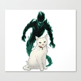 Mogget (green) Canvas Print
