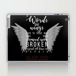 Jaxon Hall, The Mime Order Quote in black, from The Bone Season series by Samantha Shannon Laptop & iPad Skin