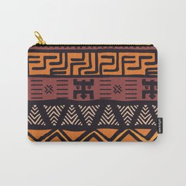 Tribal ethnic geometric pattern 021 Carry-All Pouch