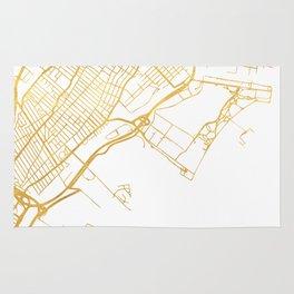 JERSEY CITY NEW JERSEY STREET MAP ART Rug