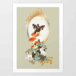 Lady Toadstool Art Print