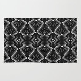 """Art Deco . Black and white pattern .""""Constance """". Rug"""