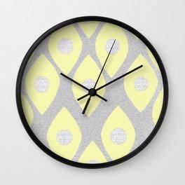 Eye Pattern Yellow Wall Clock