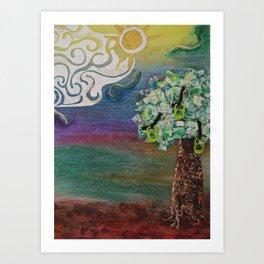 Soda Top Tree Art Print