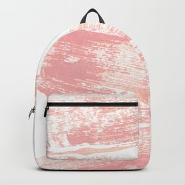 Stacked Pink Brushstrokes Backpack