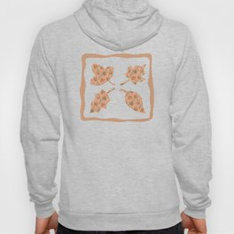 Woodland Forest Plants under the Fall Sun Light , Muted Colors Pattern Illustration Hoody