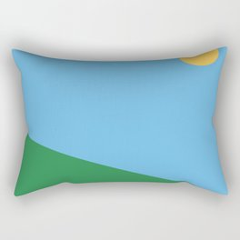 Minimal countryside landscape Rectangular Pillow