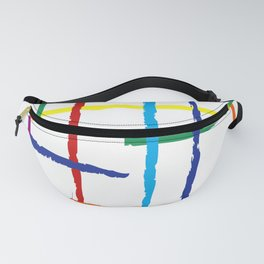 Grunge rainbow lines Fanny Pack