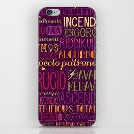 Standard Poster of Spells iPhone Skin
