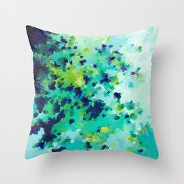 Aquamarine Addiction Throw Pillow