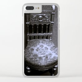 Ornate Victorian Chair from the 1860s Clear iPhone Case