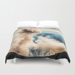 The summit of Karymsky Volcano Duvet Cover