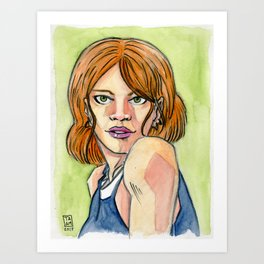 Watercolor Girl II Art Print