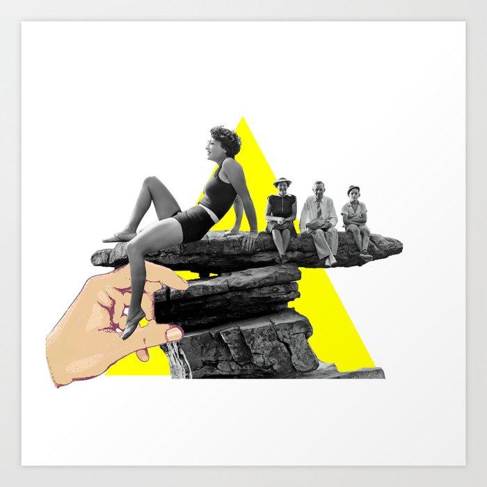 Triangle Yellow Art Print