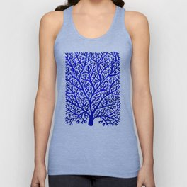Fan Coral – Navy Unisex Tank Top