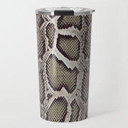 Faux Boa Constrictor Snake Skin Design Travel Mug