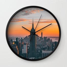 Top Of The Rock at Sunset Wall Clock